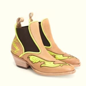 FLUEVOG Western Chelsea Boot -Like New!